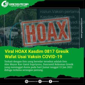 Viral HOAX Kasdim 0817 Gresik Meninggal Usai Vaksin COVID-19