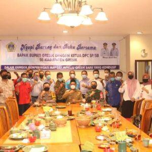 Jelang May Day, Kapolres Gresik Bersama Bupati Jalin Silaturahmi dan Buka Puasa Bersama Dengan Ketua SP/SB