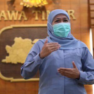 Beredar Pesan Berantai Kasus Covid-19 Jatim Meledak, Gubernur Khofifah Pastikan Hoaks