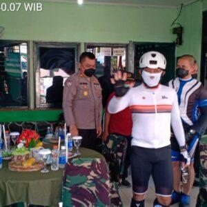 Sinergitas TNI-POLRI, Pangdam V/Brawijaya Gowes Road Bike ke Gresik