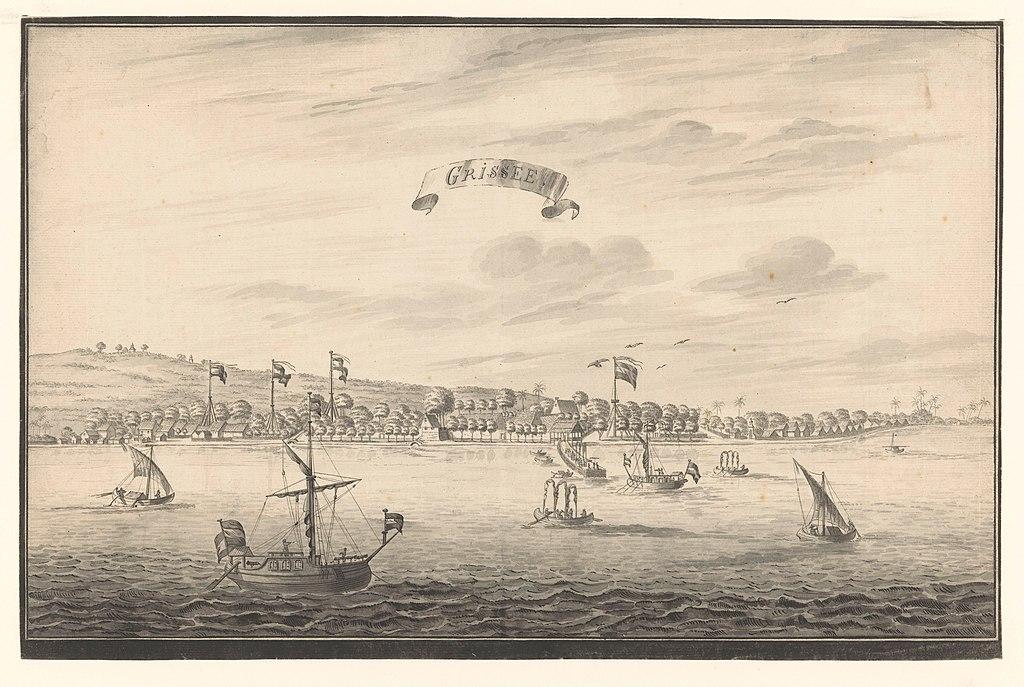Pemandangan Gresik , A. de Nelly (mogelijk), 1775 - 1780