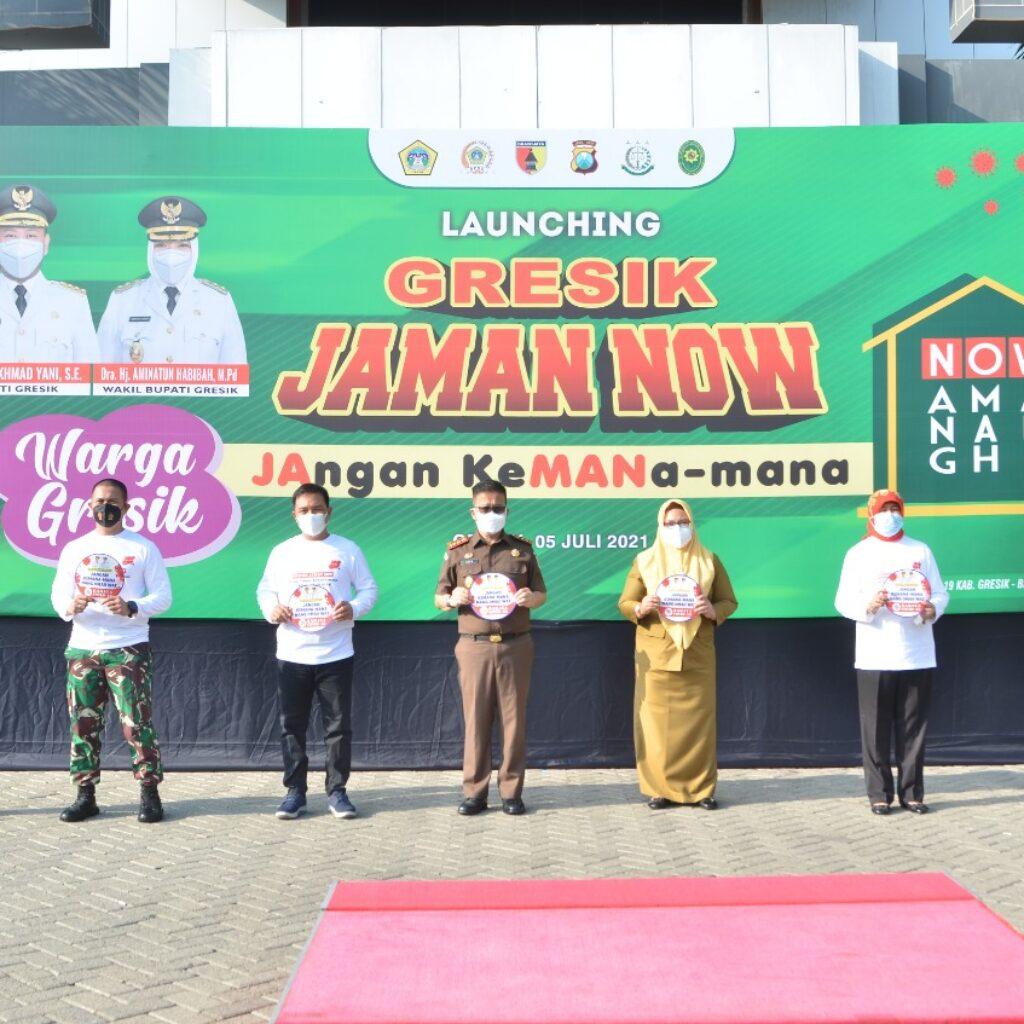 Wakil Bupati Ning Min Launching Gresik Jaman Now
