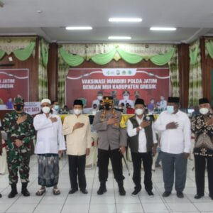 Polres Gresik Sinergi Dengan MUI Gelar Vaksinasi Mandiri, AKBP Mochamad Nur Azis: Ikthiar Menjaga Umat
