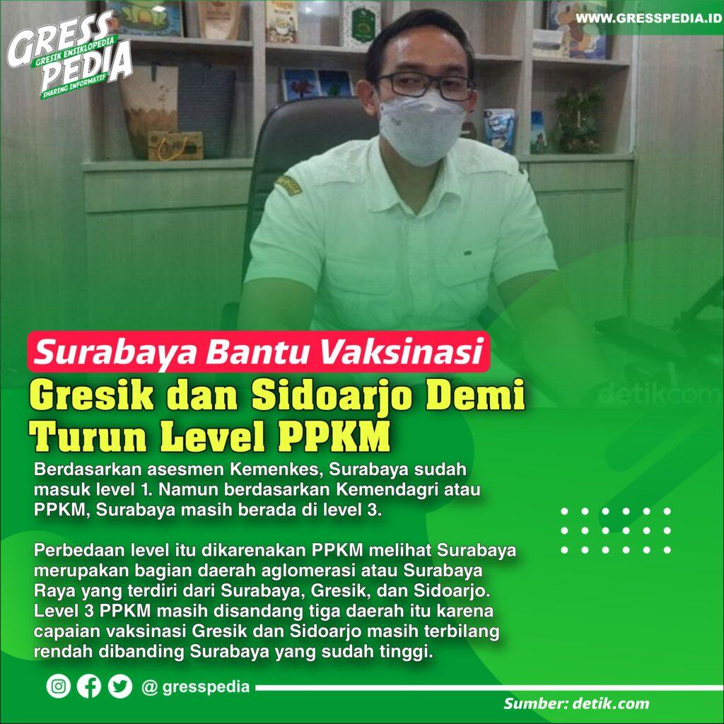 Surabaya Bantu Vaksinasi Gresik dan Sidoarjo Demi Turun Level PPKM