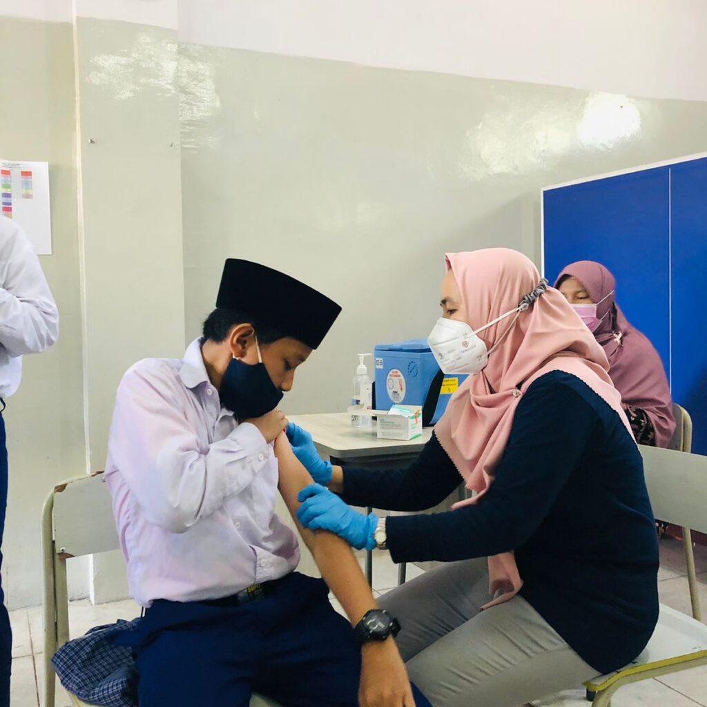 Siswa SMPIT Al Ibrah Ikuti Murojaah Al Qur'an Sebelum Jalani Vaksinasi
