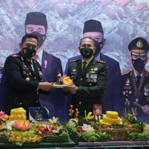 Kapolres Gresik Ikuti Upacara HUT TNI Ke-76 Melalui Video Conference