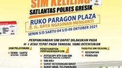 Jadwal Sim Keliling Gresik Oktober 2021 (Minggu ke 1)